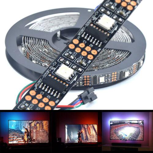 3m 4m 5m WS2801 RGB LED Streifen Strip Band Leiste  Ambi Ambient TV Raspberry Pi