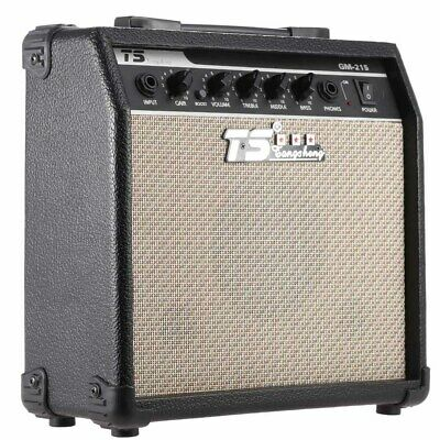 GM-215 15W Electric Guitar Amplifier Amp Distortion with 3-B