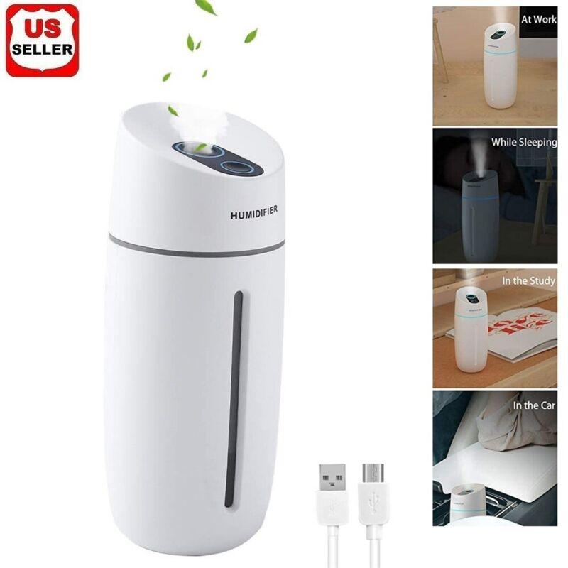 Portable Mini Humidifier Car Home USB LED Lamp Aroma Nano Diffuser Mist Purifier