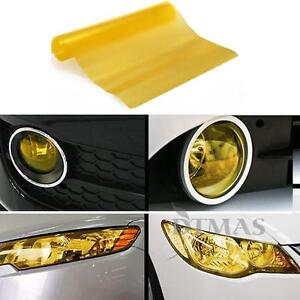 film adh sif lastique jaune 60x30cm pour phare lampe brouillard arri re auto ebay. Black Bedroom Furniture Sets. Home Design Ideas