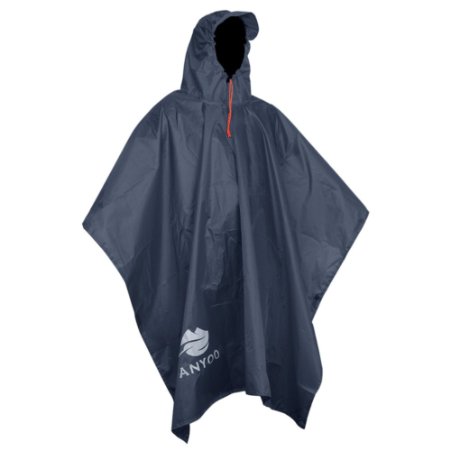 Light Rain Cycling Poncho Tarp Outdoor Survival Hooded Coat