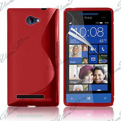 Accesorios Fundas Carcasa Silicona Gel TPU S Rojo F HTC Windows Teléfono...
