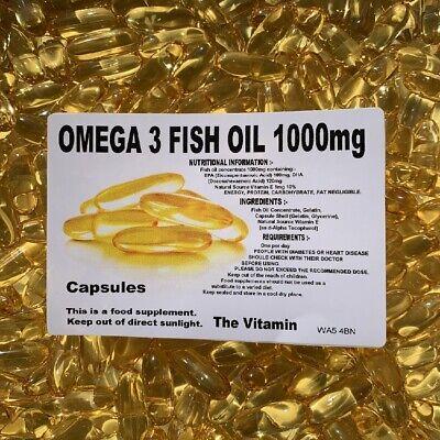 Los Vitamina Omega 3 Aceite de Pescado 1000mg 365 Cápsulas - Embolsado