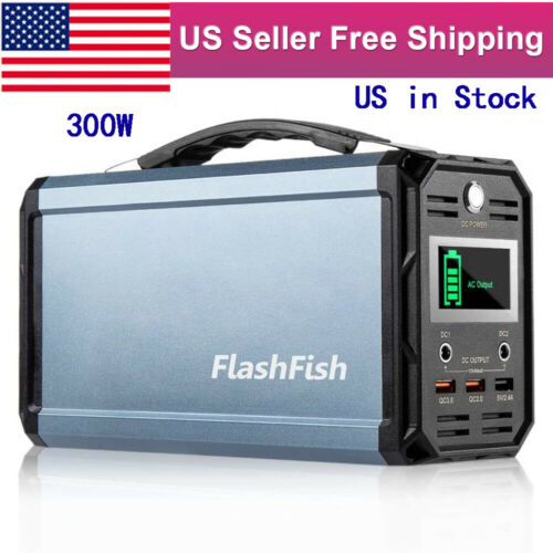 300W 60000mAh 222Wh Portable Power Station Solar Generator Camping CPAP Battery