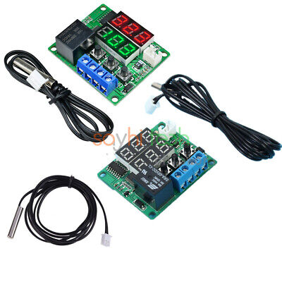 Dc 12v5v Digital Dual Led Timer Relay Module Temperature Controller Thermostat