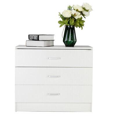 US STOCK Wood Simple 3-Drawer Dresser White Bedside Table