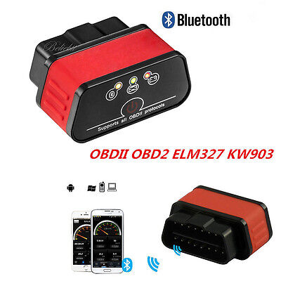 Used, KW903 ELM327 Bluetooth OBD2 OBDII Auto Fault Code Reader Diagnostic Scanner Tool for sale  Walnut
