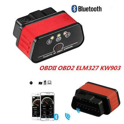 Kw903 Elm327 Bluetooth Obd2 Obdii Auto Fault Code Reader Diagnostic Scanner Tool