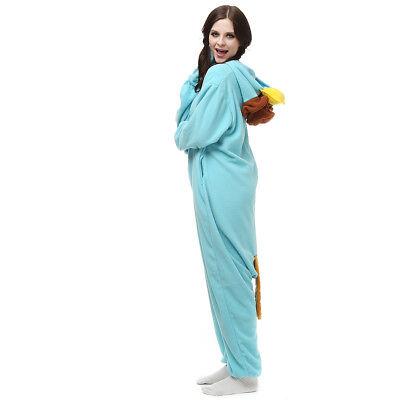 Unisex Adult Kigurumi Onesie1 Pyjamas Halloween Costumer Skyblue