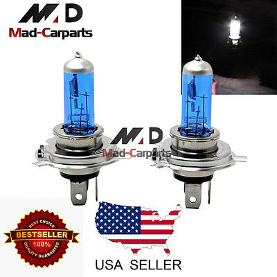 55w Halogen Replacement Bulb - H4 55w Halogen Xenon Headlight Replacement 2x Light Bulb Lamp 6000K White