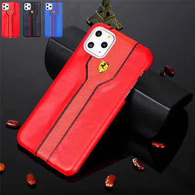 For iPhone 11 Pro Max XS XR 8 Shockproof Ferrari Logo Protective Hard Case Cover