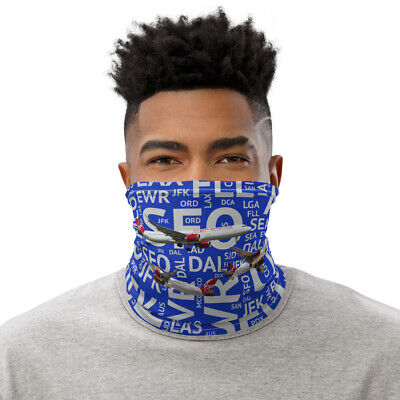 Virgin America Aircraft with Airport Codes - Neck Gaiter