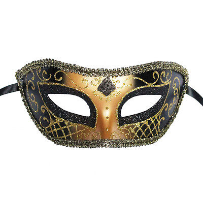 Prom Masquerade Masks (Black Venetian Mask Masquerade Ball Prom Party Mardi Gras Halloween Wedding)