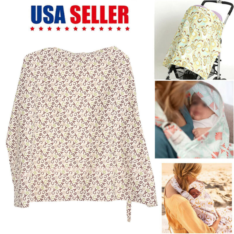 Breastfeeding Cover Baby Nursing Cover 100% Soft Breathable Cotton Blanket Apron