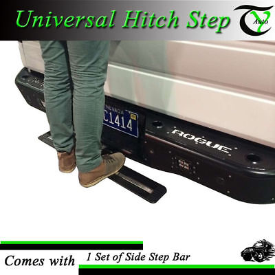 """Hitch Step Bumper Guard For 2'' Receiver 35"""" Black Aluminum Truck SUV Mounting"""