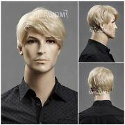 Short Blonde Male Wig