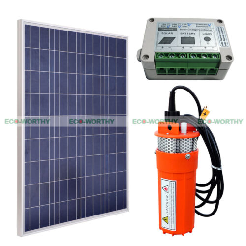 100w Solar Panel Amp 12v Submersible Pump Deep Well Pump For
