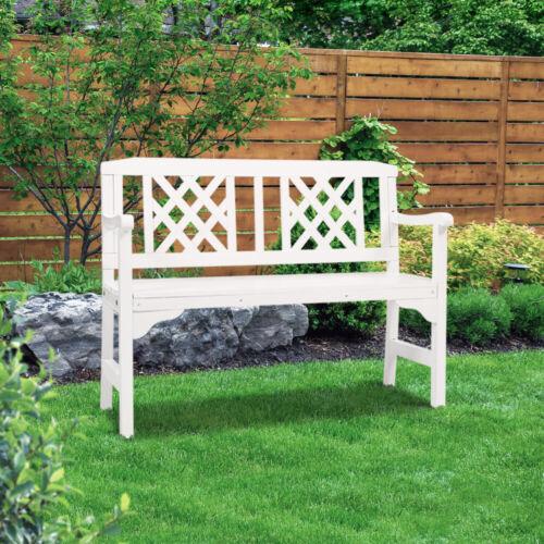 Garden Furniture - Gardeon Wooden Garden Bench Seat Patio Furniture Timber Lounge Chair White