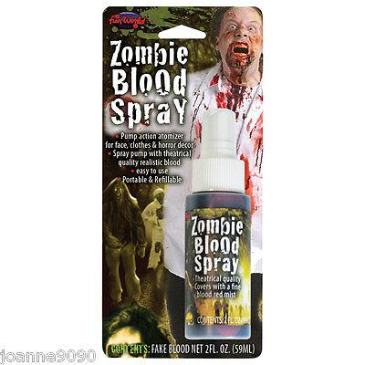 Bote de horror zombie REALISTA Sangre Falsa Vampiro Aerosol Disfraz Halloween (Halloween Disfraz De Vampiro)
