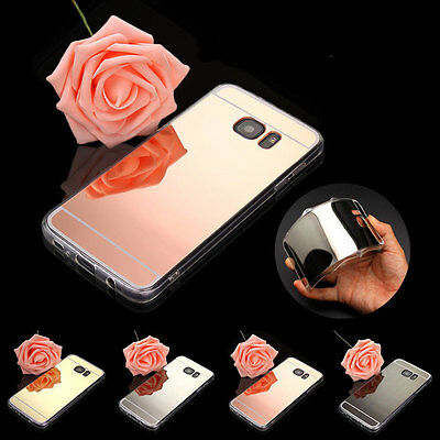 Shockproof Luxury Silicone Mirror Soft Case Cover For Samsung Galaxy Note 5 4 3