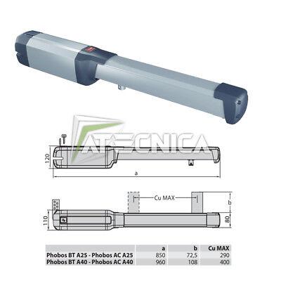Actuador Motor Puertas Abatibles bft Phobos BT A25 P935096 00002 24V 2,5m...