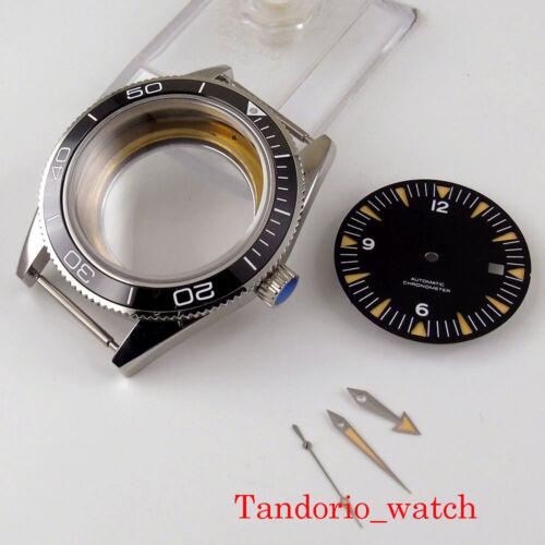 Fit MIYOTA 8215 ETA 2836 41mm CORGEUT Watch Case Dial Watch Hands Ceramic Bezel