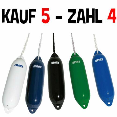 Bootsfender Fender Langfender für Boot Yacht in 2 Größen / verschiedenen Farben