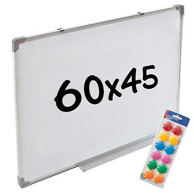 Whiteboard Magnettafel Wandtafel 60 x 45 cm + 12 Magnete Präsentationstafel