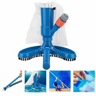 Limpiafondo Piscina Portátil Aspiradora Para Estanque Vacuum Pool Brush Cleaner