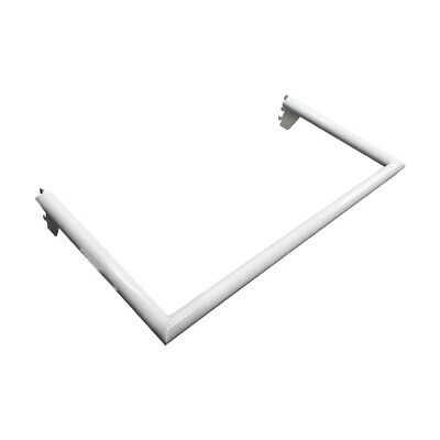 White Industrial Pipe Rack Hangrail Retail Display Clothes Hanger 24 Wide