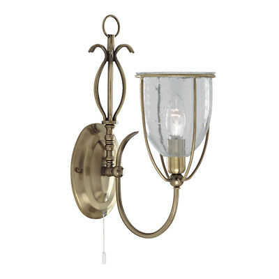 Searchlight Silhouette Brass Switched Indoor Hallway Wall Fitting Bracket Light