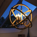 Big Rope Orb 6 Candle Bases Chandelier Light Indus picture