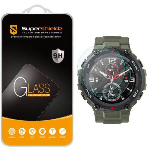 2X Supershieldz Tempered Glass Screen Protector for Amazfit T-Rex
