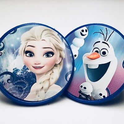 Frozen Cupcake Toppers Rings Birthday Party Favors - Set of 20 - Elsa and Olaf