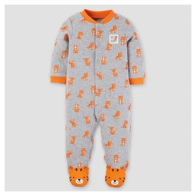 1 Cotton Baby Sleeper - Carter's Baby Boys' 1 Piece Tiger Cotton Footed Sleepers