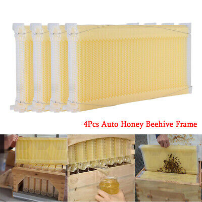 4xhoney Bee Hive Frames Beekeeping Kit Bee Hive Auto Harvest Honey