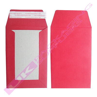 5 SMALL RED A6 C6 HARD BOARD BACKED SELF SEAL POST ENVELOPES MAILERS 114x162mm