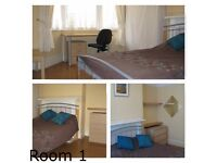 3 large double rooms (single occupancy) shared house in ME4 (Chatham/Rochester)