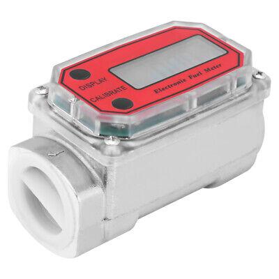 Digital Turbine Fuel Flow Meter Lcd Diesel Chemicals Flowmeter Water Liquid 120l