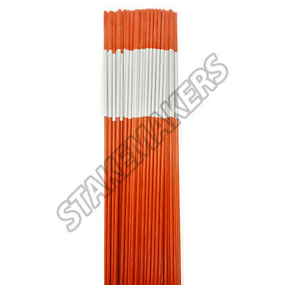 200 Reflective Driveway Markers Snow Plow Stakes Orange 1/4'' BY 4' Best