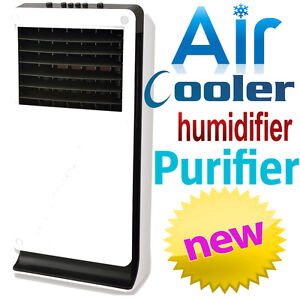 JHS8 3-in-1 Portable Evaporative Air Cooler Humidifier Purifier Auto Swing 3.3L