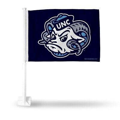 North Carolina UNC Tar Heels NCAA 11X14 Window Mount 2-Sided Car Flag North Carolina Tar Heels Automobile