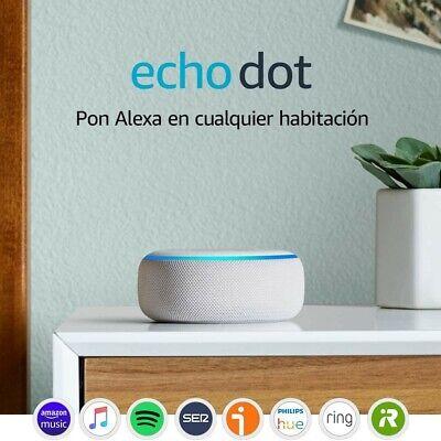 Echo Dot (3.ª generación) - Altavoz inteligente con Alexa, tela de color...