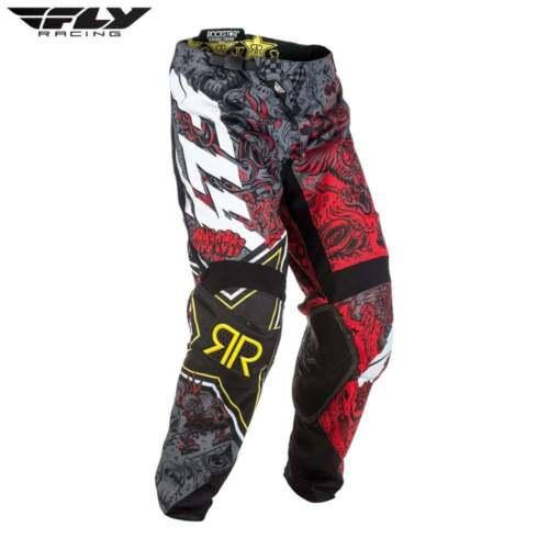 Fly Racing MX Motocross MTB BMX 2018 Kinetic ROCKSTAR Pants Red//Black