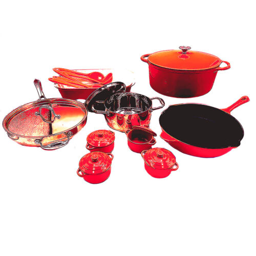 Le Chef 21-Piece Cookware Set (Multi-Colored,R167SS), Clearance Sale!