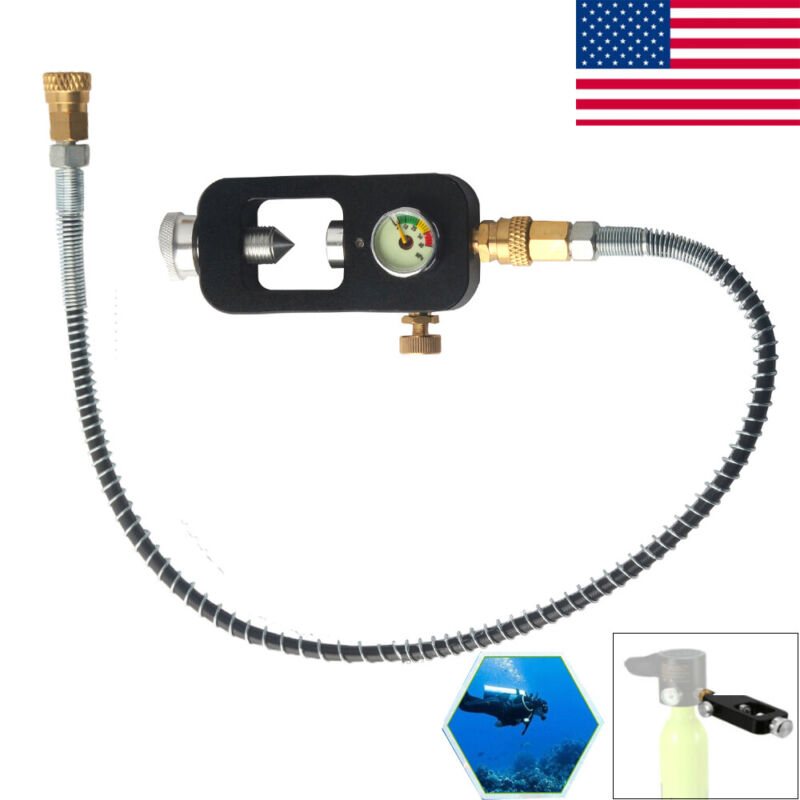 Airsoft PCP 4500psi Refill Station Filling&Hose For Air Tank Scuba Cylinder US