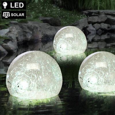 LED Solar Agua Luz Bola Foco Estanque Exterior Piscina Meter Lámpara Glasfäden