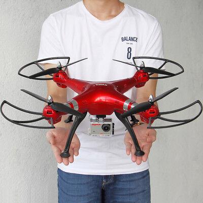 Original Syma X8HG 8MP HD Camera Drone Gyro RC Quadcopter Gyro Hover + 3 Battery