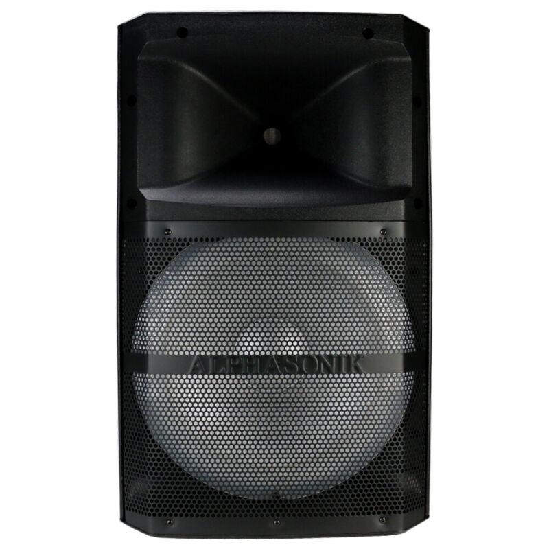 """Alphasonik VENUM15 600W Amplified 15"""" DJ Speaker System w/ Bluetooth NEW"""