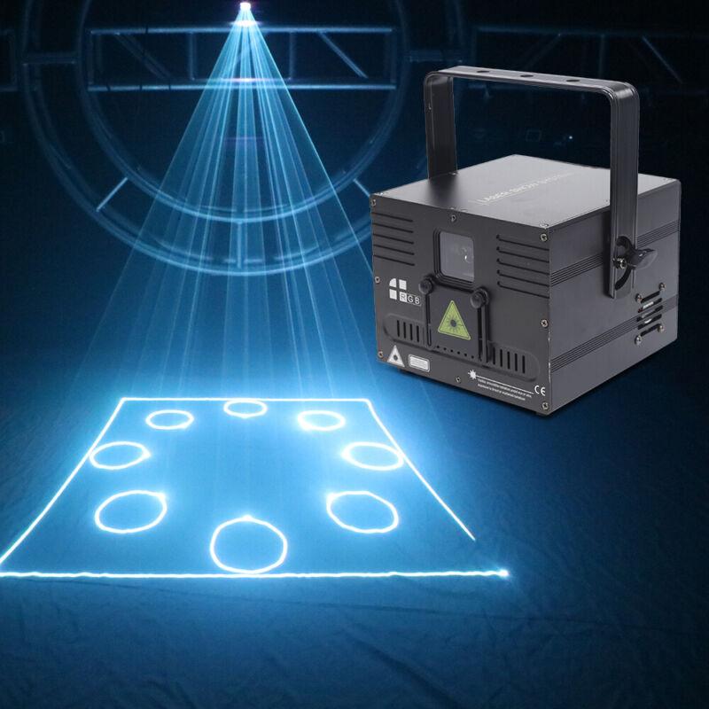 1W 1000mW DMX512 White Beam ILDA Animation Laser Scanner Stage Lighting Effect